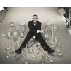 10 inch Photo. Mature man sitting with stirring glasses of ice found on Bargain Bro Philippines from Media Storehouse for $16.64