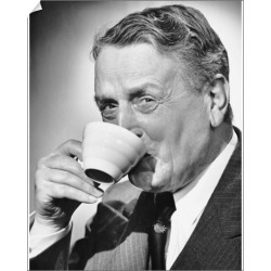 10 inch Photo. Mature man drinking cup of coffee found on Bargain Bro Philippines from Media Storehouse for $16.64