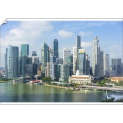 A1 Poster. Singapore skyline, financial district skyscrapers found on Bargain Bro Philippines from Media Storehouse for $76.47