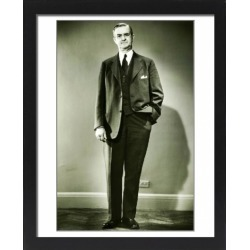 Large Framed Photo. Mature man posing in studio, (B&W), portrait found on Bargain Bro Philippines from Media Storehouse for $180.45