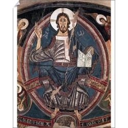 10 inch Photo. Church of St. Clement of Tahull. Pantocrator by