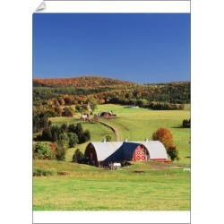 A1 Poster. USA, Vermont, Northeast Kingdom, Barnet, View of farm found on Bargain Bro Philippines from Media Storehouse for $76.34