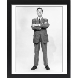 Large Framed Photo. Mature man wearing suit, standing in studio, found on Bargain Bro Philippines from Media Storehouse for $180.45