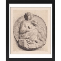 Large Framed Photo. Pitti Madonna, sculpted (c.1504) by