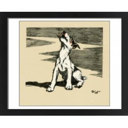 Large Framed Photo. Illustration by Cecil Aldin, puppy howling found on Bargain Bro Philippines from Media Storehouse for $180.45