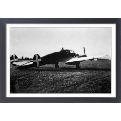 Large Framed Photo. Caproni Ca300 Series - light bombers used by