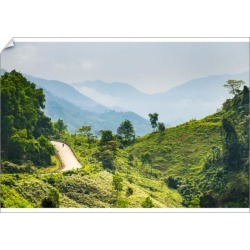 A1 Poster. Ho Chi Minh Highway West passes through mountain