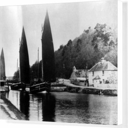 Box Canvas Print. Herring boats Tarbert Fish where the fish are found on Bargain Bro Philippines from Media Storehouse for $180.45