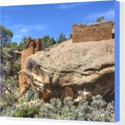 Box Canvas Print. Ruins of Ancestral Puebloans, dating from found on Bargain Bro Philippines from Media Storehouse for $180.45