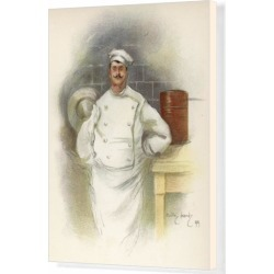 Box Canvas Print. Savoy Hotel Chef 1899 found on Bargain Bro Philippines from Media Storehouse for $180.45