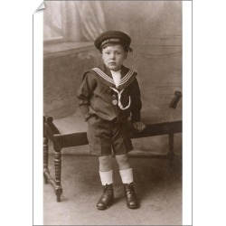 A1 Poster. Little boy in HMS Orion cap and uniform, WW1 found on Bargain Bro Philippines from Media Storehouse for $76.34