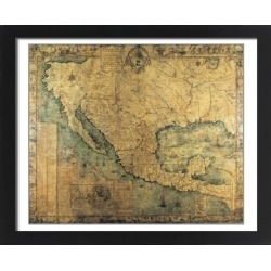 Large Framed Photo. Map of Nueva Espa?1767) by