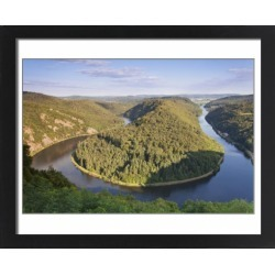 Large Framed Photo. Saar Loop (Grosse Saarschleife) seen from found on Bargain Bro Philippines from Media Storehouse for $180.45