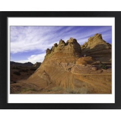 Large Framed Photo. Mature man sitting on sandstone rock, evening found on Bargain Bro Philippines from Media Storehouse for $180.45