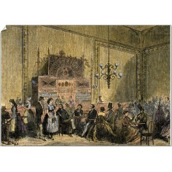 A0 Poster. Brewery Hanover. Germany. Colored engraving by