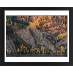 Large Framed Photo. A motorboat sails along the Yenisei River in found on Bargain Bro Philippines from Media Storehouse for $213.47
