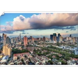 A1 Poster. Puxi Pudong Buildings World Financial Center Jinmao found on Bargain Bro Philippines from Media Storehouse for $76.47