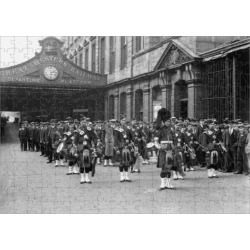 252 Piece Puzzle. Highland Band at Paddington Station, 1915 found on Bargain Bro Philippines from Media Storehouse for $45.80
