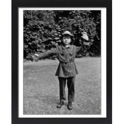 Large Framed Photo. Boy in policemans uniform in a garden found on Bargain Bro Philippines from Media Storehouse for $180.45