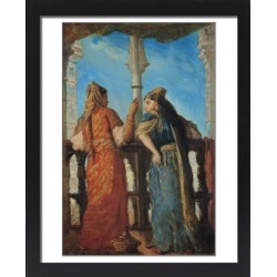 Large Framed Photo. Jewish Women at the Balcony, Algiers, 1849 found on Bargain Bro Philippines from Media Storehouse for $180.45