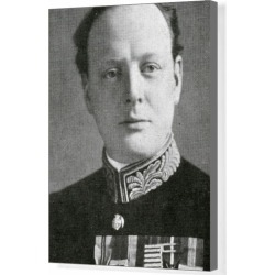 Box Canvas Print. Winston Churchill in 1924 (Military uniform found on Bargain Bro Philippines from Media Storehouse for $180.45