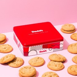 Fresh Baked Peanut Butter with Peanut Butter Chip Cookies - size: 1lb Signature Cookie Tin