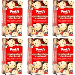 Traditional Chocolate Chunk Butter Shortbread Cookie Box - 6 Pack - Shortbread: Chocolate Chunk - 6 Pack
