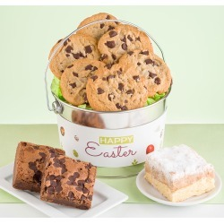 Easter Bucket Chocolate Chip Cookie Brownie and Crumb Cake Sampler