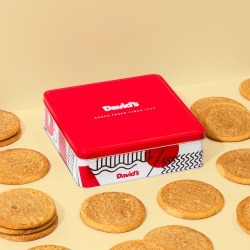 Fresh Baked Snickerdoodle Cookies - size: 1lb Signature Cookie Tin