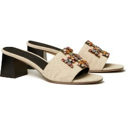 Tory Burch Ines Embellished Mid-Heels Slide found on Bargain Bro UK from Tory Burch UK