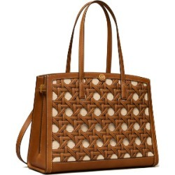 Tory Burch Walker Basket-Weave Satchel found on MODAPINS from Tory Burch US for USD $798.00