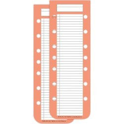 Day-Timer Double-Punched Narrow Hot List Sheets Desk Size 2 Pad Per Pack - Planner Accessories