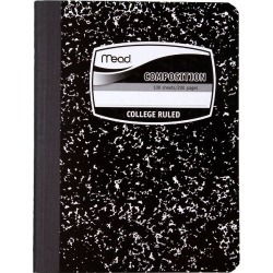 Mead Black Marble Composition Book-1 Subject - Composition Books