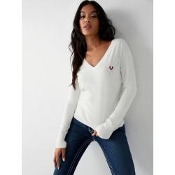 Women's True Sweater   White   Size X Small   True Religion