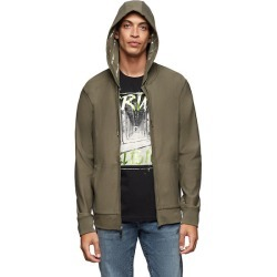 Men's Woven Stretch Hoodie | Military Green | Size XX Large | True Religion