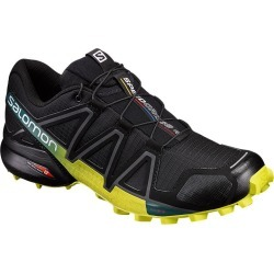 Salomon Men's Speedcross 4 Trail Running Shoes - Black/Green/Blue