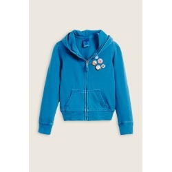 True Religion Puff Pins Kids Hoodie - Turquoise