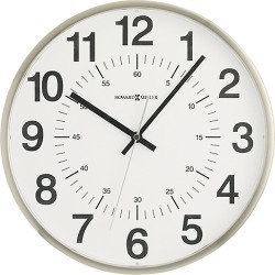 Classic 24 Hour Clock, Silver by Design Within Reach