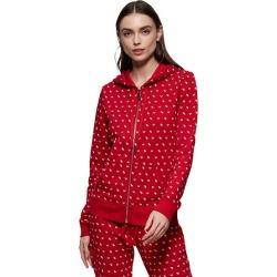Women's Monogram Zip Hoodie   Ruby Red   Size X Small   True Religion