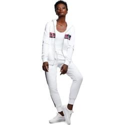 Multi Stripe Zip Hoodie   White   Size X Small   True Religion