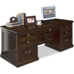 Double Pedestal Executive Desk from the Kathy Ireland Collection - Martin Furniture found on Bargain Bro Philippines from officefurniture.com for $1305.00
