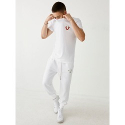 Double Puff Mens Tee | White | Size XX Large | True Religion