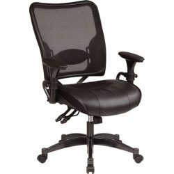 Mesh Back Leather Ergonomic Task Chair - Office Star found on Bargain Bro Philippines from officefurniture.com for $434.00