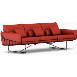 Wireframe Sofa - Red, 3 Seat Sofa