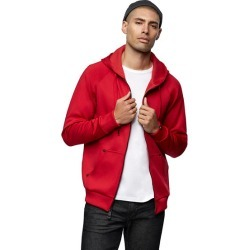 Men's Studded Logo Zip Hoodie | Ruby Red | Size XX Large | True Religion