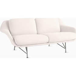 Striad Sofa - White, Two Seat Sofa