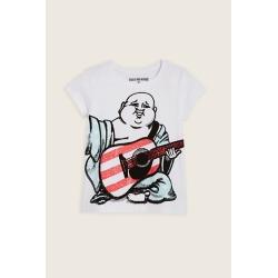 True Religion Buddha Flag Toddler/little Kids Tee - White