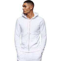Men's Tonal Panel Zip Hoodie | White | Size XX Large | True Religion