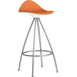 Stua Onda Counter Stool, Orange/stainless at DWR found on Bargain Bro India from Design Within Reach for $495.00