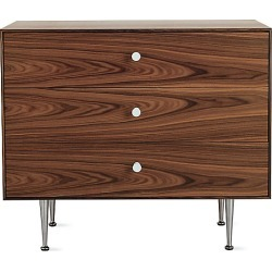 Herman Miller Nelson Thin Edge Three-Drawer Chest, Brown at DWR found on Bargain Bro India from Design Within Reach for $10259.00